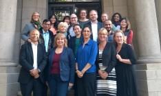 Participants au Séminaire international sur l'alphabétisation devant l'UIL