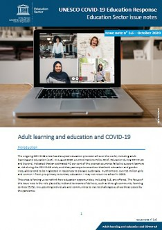 Adult learning and education and COVID-19