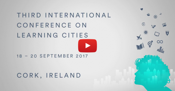 Save the date Card for Learning Cities Conference in Cork, Ireland