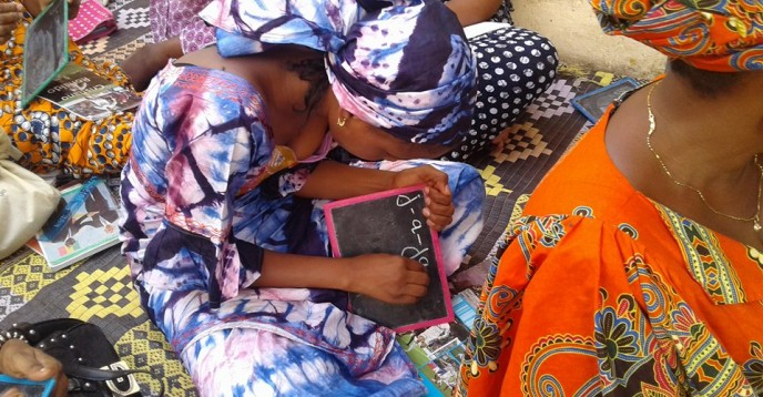 Women learning to wrtite, Senegal